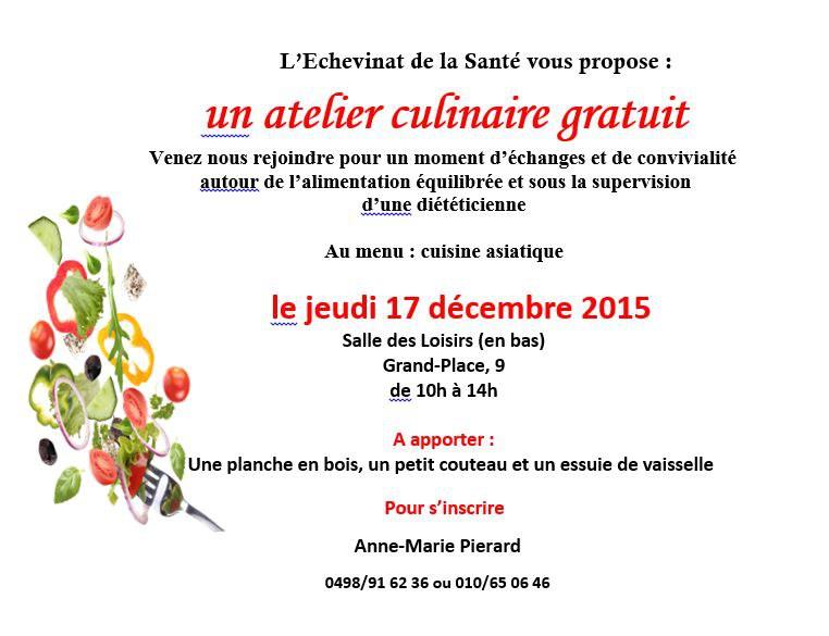 Atelier culinaire   décembre 2015 Capture